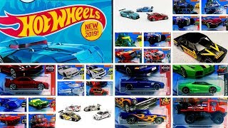 2019 Hot Wheels Case A short carded, Car Culture lists Peek and more