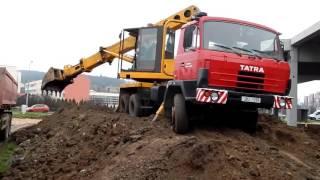 Экскаватор-планировщик Tatra UDS 114(, 2015-11-16T08:40:38.000Z)