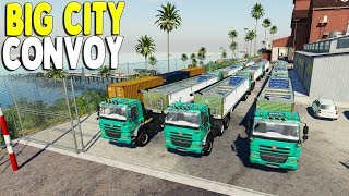 Crazy Farm Truck Convoy Rolls into Big US Railyard | Farming Simulator 19 Multiplayer Gameplay