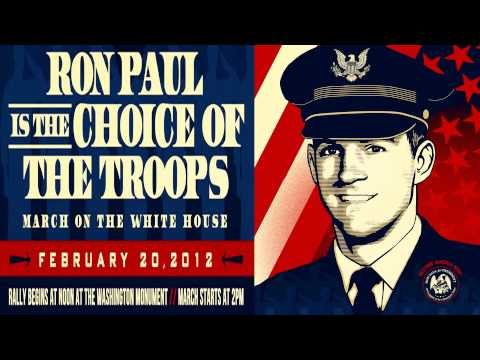 RON PAUL IS THE CHOICE OF THE TROOPS - please rip and share!