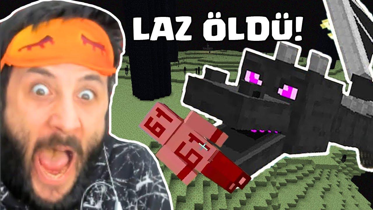 EJDERHA LAZ ALİYİ ÖLDÜRDÜ! Ekip Minecraft #5