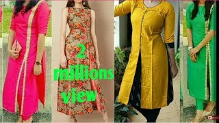 Log open Slits kurti Designs 2018 ||Front & Side Slits/Cut Kurti Designs || College wear Outfits