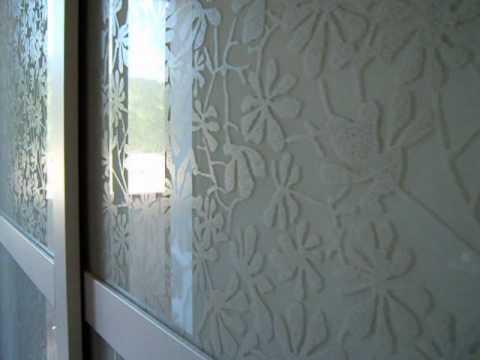 Decorazione Ante Armadio : Armadio scorrevole con vetro decorato youtube