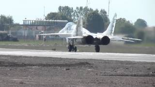 MiG-29, start-up, taxiing, take off,  Lviv (UKLL)