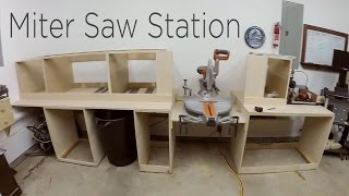 Miter Saw Station Cabinets And Work Surface - 194