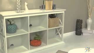 The Hampton Console Table Stackable Bookcase - Product Review Video