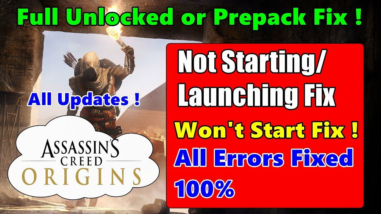 How to Fix Assassins Creed Origins Not Starting/Launching Fix - Crash Fix |  All Updates Download