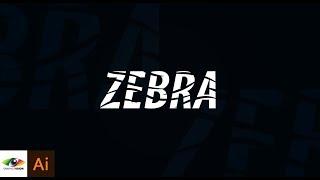 Adobe Illustrator | Simple and easy zebra text design