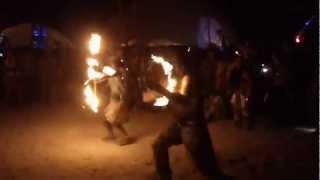 felix the fire cat at fractal nation at burning man 2012