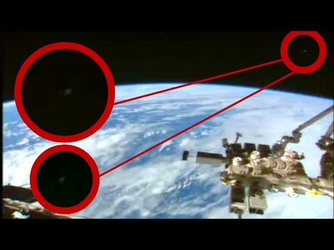 UFOs video NASA/ESA cuts live space feed when ufo appear  ISS space station sighting, HD stream