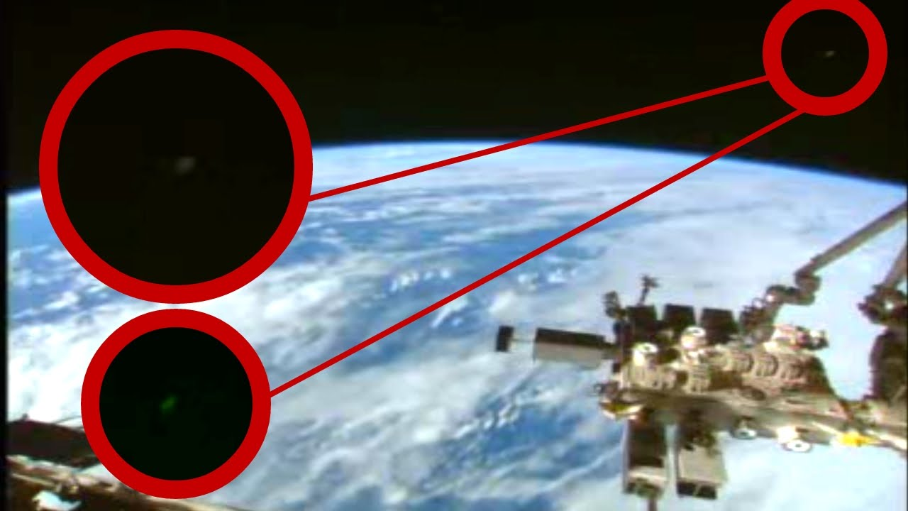 UFOs video NASA/ESA cuts live space feed when ufo appear