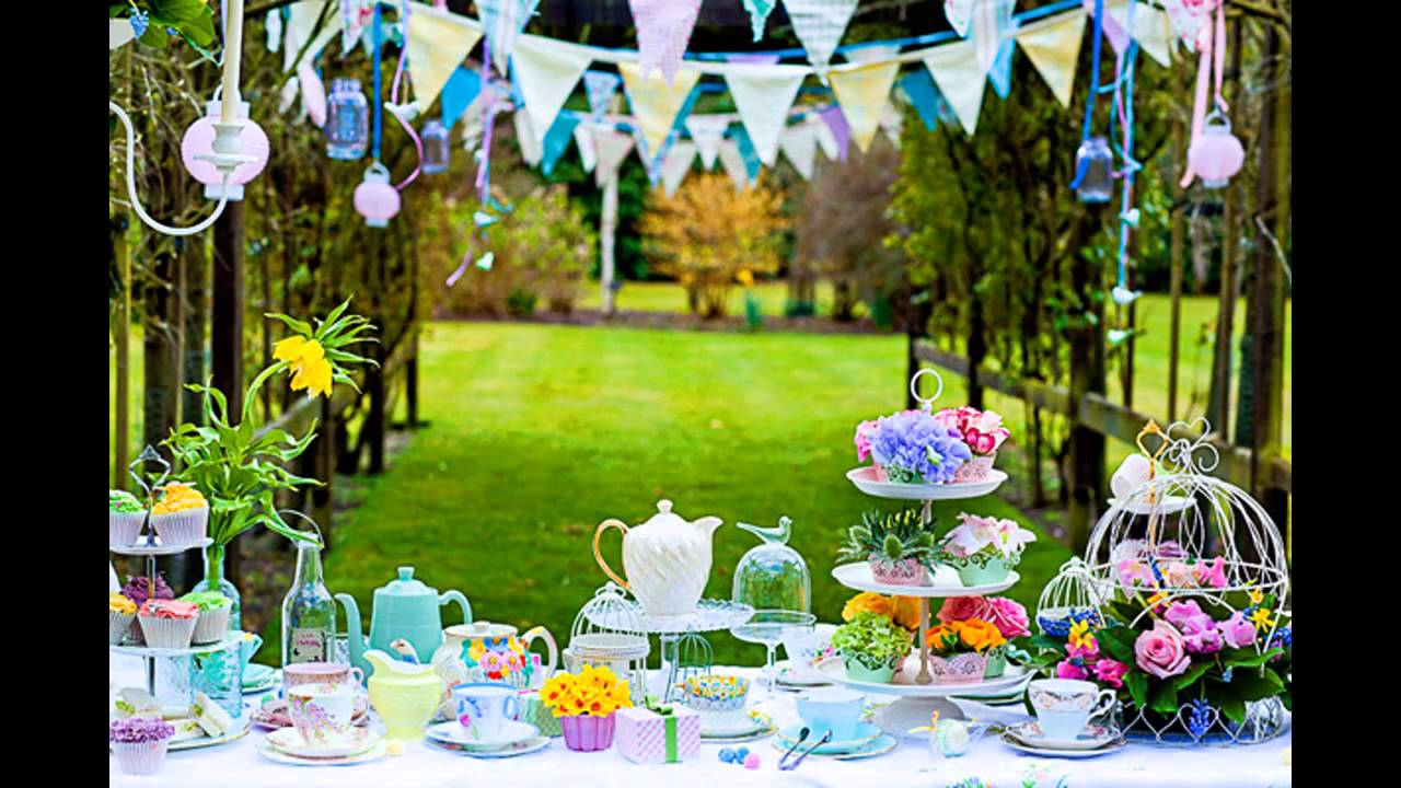 Cool Summer garden party decorations