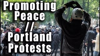 Portland Protest Turn Violent between Trump Supporters, ANTIFA, BLM, Activists, and Riot Police