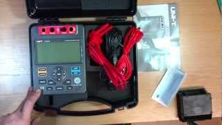 Uni-T UT511 insulation tester unboxing and preview
