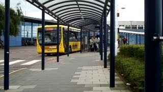 East Midlands Airport Bus to Leicester (bus stops presently by arrival hall)
