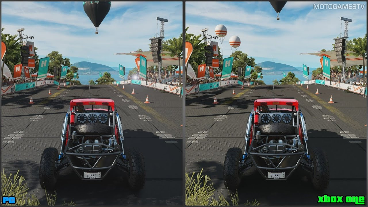 forza horizon 3 pc vs xbox one graphics comparison