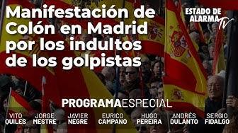 Imagen del video:  Manifestación de Colón en Madrid por los indultos de los golpistas