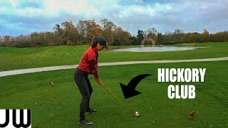Playing HICKORY GOLF with 2 TOUR PRO'S...