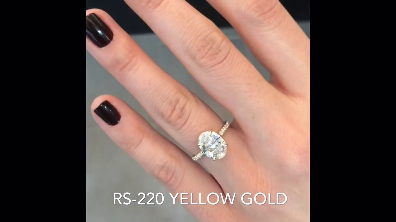 270 Ct Oval Diamond Yellow Gold Engagement Ring