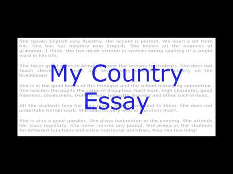 Essay my country