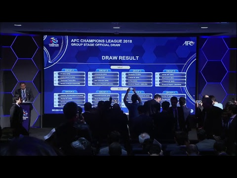 AFC Champions League 2018 Official Group Stage Draw