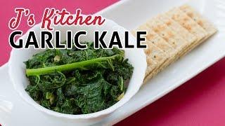 Garlic Kale (modified Sri Lankan Version) Easy And Quick Vegan & Vegetarian Dish!