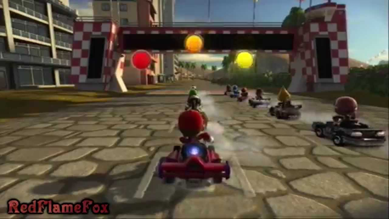 i 39 m playing mario kart 8 on a ps3 modnation racers. Black Bedroom Furniture Sets. Home Design Ideas