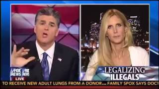 Ann Coulter on Hannity talking about Immigration