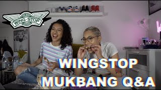 CELEBRITY CRUSH?🧐 PET PEEVES?😒 SINGLE?👀 WINGSTOP 🍗 🔥😋 Mukbang Q&A!!!