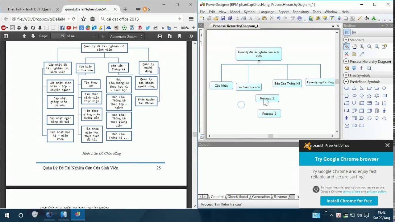 Vẽ sơ đồ chức năng bằng Powerdesigner