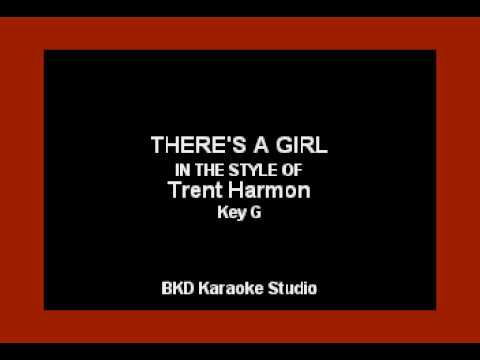 There's A Girl (In the Style of Trent Harmon) (Karaoke with Lyrics)