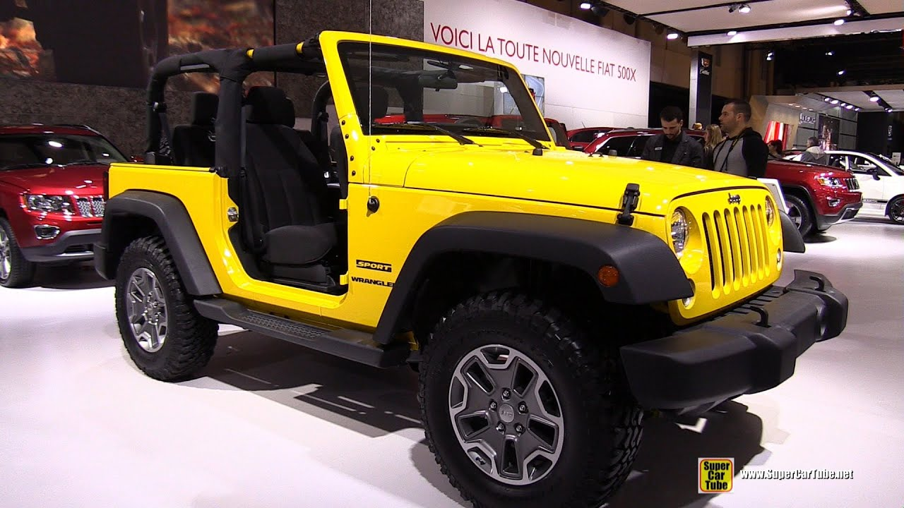 2015 Jeep Wrangler Inside >> 2015 Jeep Wrangler Sport S - Exterior and Interior Walkaround - 2015 Montreal Auto Show - YouTube