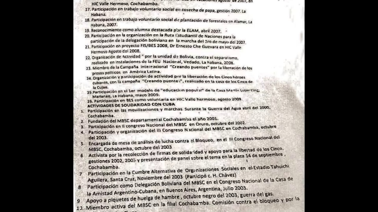 Curriculum Vitae Ariana Campero Ministra De Salud De Bolivia Youtube