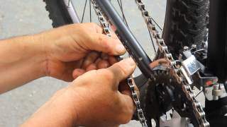 Deore XT 9 Chain Install with KMC missing link - BikemanforU - DIY Bike Repair