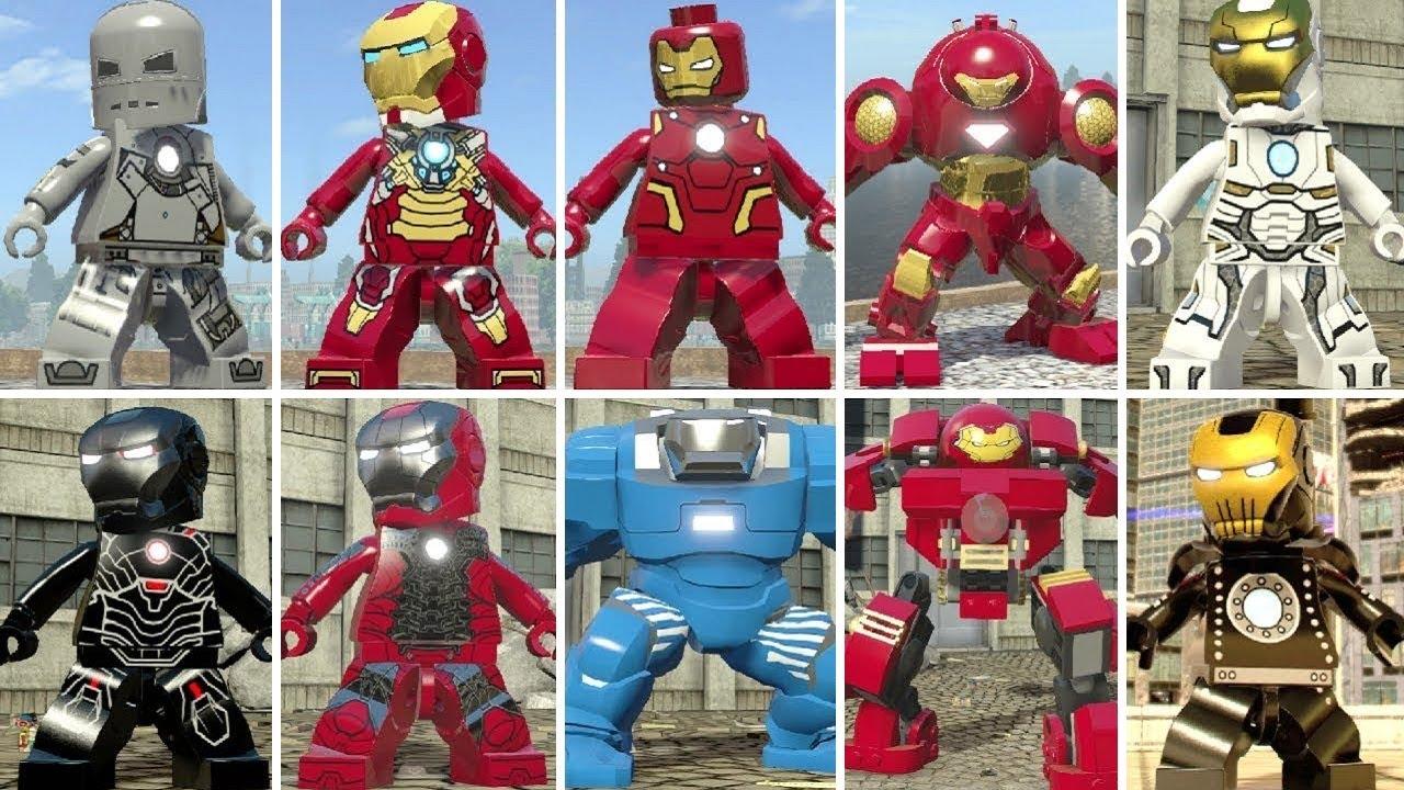 Evolution of Iron Man (Tony Stark) in LEGO Marvel Videogames