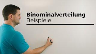 Binomialverteilung, Beispiele, Stochastik, Wahrscheinlichkeitsrechnung, Mathe by Daniel Jung