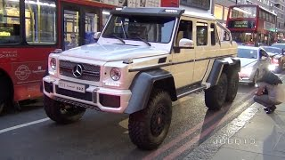 Monster Mercedes G63 6X6 AMG Fast Acceleration in the City