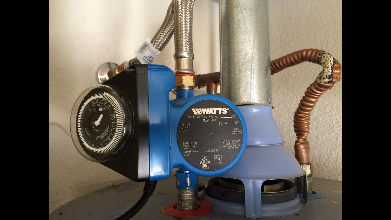 how to install a hot water recirculation pump part 1 watts 500800  [ 1280 x 720 Pixel ]
