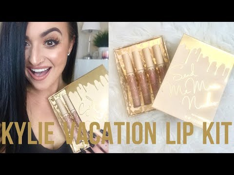 KYLIE VACATION MATTE LIP KIT | Swatches & Review!