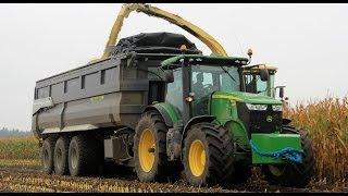 Chopping corn with big toys! John Deere 7280R + Roelama!