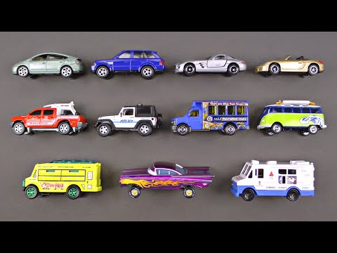 Learning Los Angeles Street Vehicles for Kids - Cars & Trucks Hot Wheels Matchbox Tomica Disney Cars
