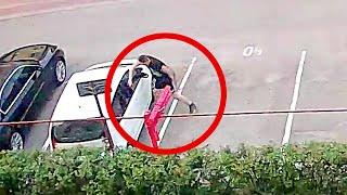 Pijany 20-latek próbuje otworzyć zaparkowane auta