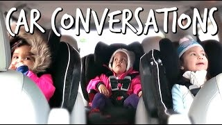 Hilarious Kid's Car Conversation - November 23, 2016 -  ItsJudysLife Vlogs