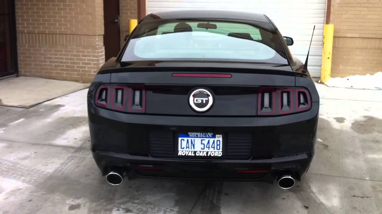 Borla S Type Exhaust Mustang Gt 5 0 2013 Youtube