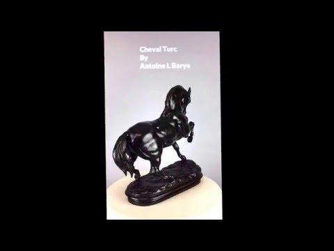 19th Century Antique Bronze - Cheval Turc by Antoine Louis Barye