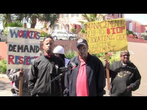 Union Staff Walk Out At Riddells Bay Bermuda March 8 2012