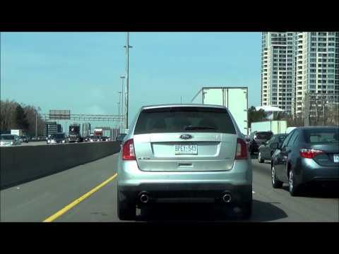 Driving from Ajax, Ontario to Grimsby, Ontario through Toronto