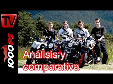 Motorpasión a dos ruedas: comparativa A2, 390 Duke, MT-07, ER-6N y Gladius