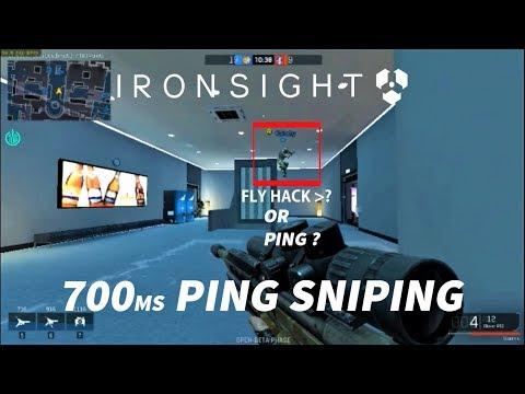 IRON SIGHT, Hacks or Ping, 700 ping sniper gameplay - YouTube