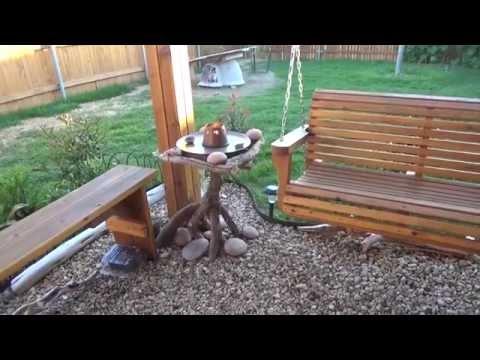 Строим беседку ч.6 (садовая мебель: стол и лавки)